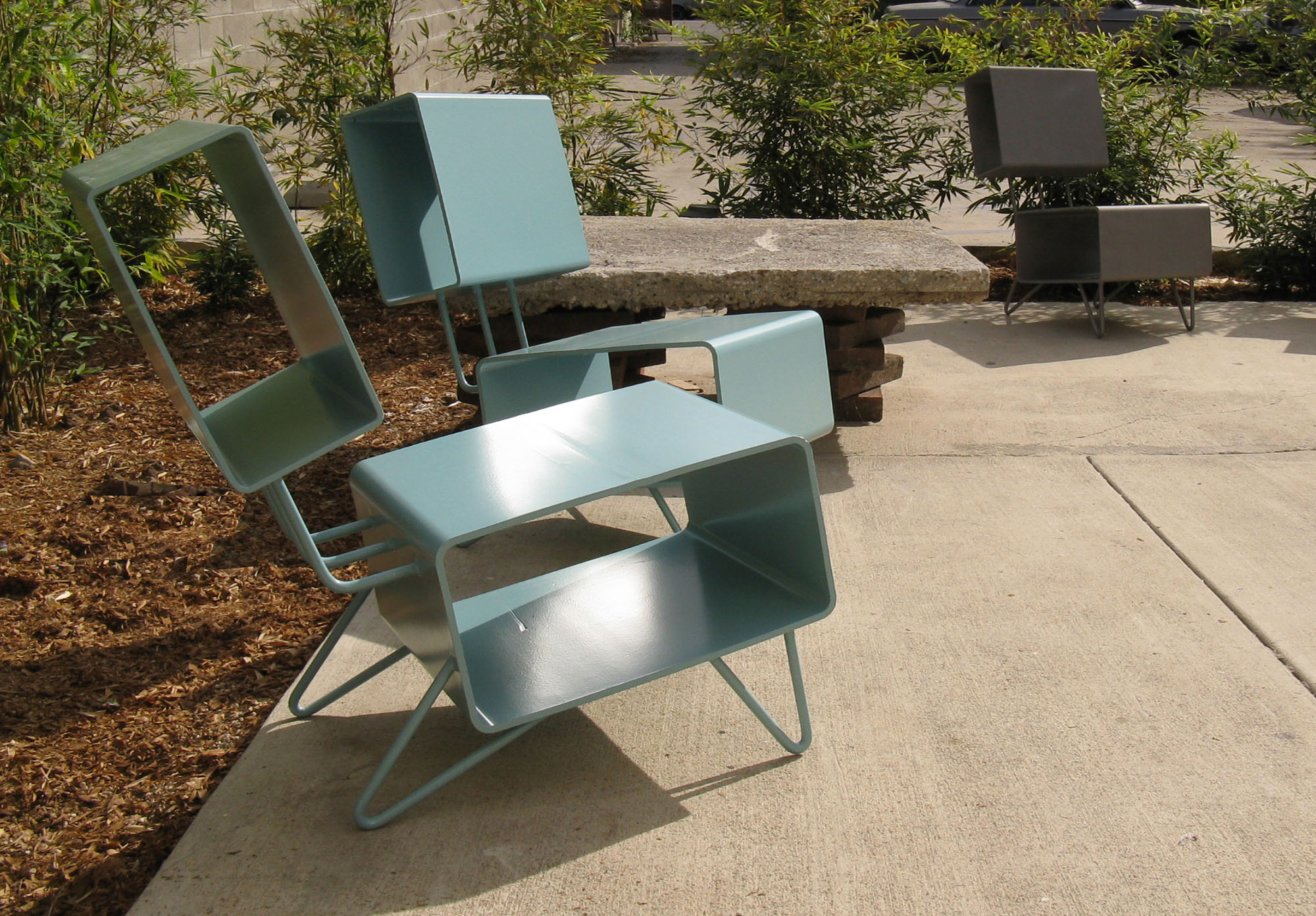 Parson Architecture Custom Furniture 04 Steel Chairs-a