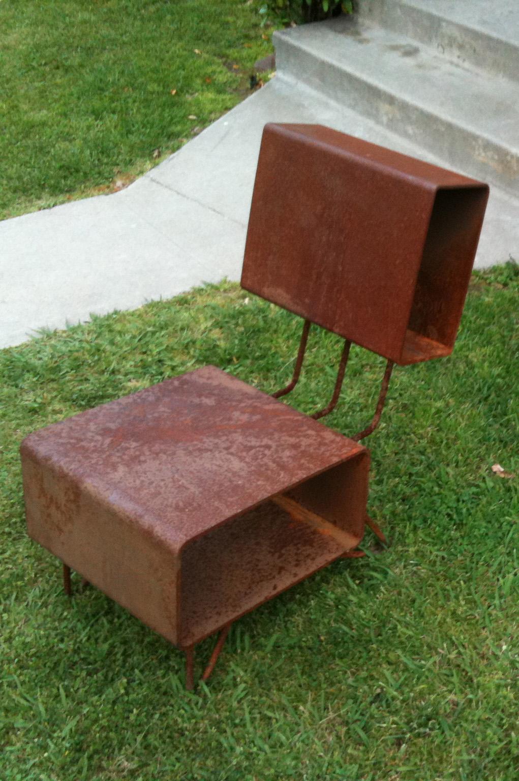 Parson Architecture Custom Furniture Steel Chair