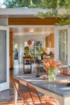Parson Architecture Franklin Hills Midcentury Modern Exterior Dining Patio