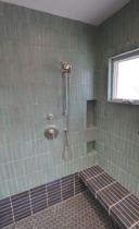 Parson Architecture Oxford Square Renovation Addition Traditional Modern Bath Custom Tile