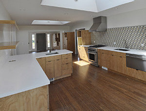 Parson Architecture Oxford Square Renovation Addition Traditional Modern Kitchen Custom Tile